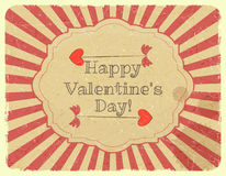 Grunge Design Valentines Day Card Royalty Free Stock Photography
