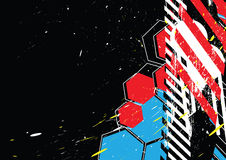 Grunge designbakgrund Arkivbilder