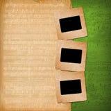 Grunge desliza dos papéis velhos Fotografia de Stock Royalty Free