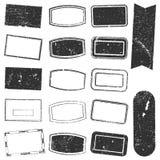 Grunge determinado del sello del rectángulo Foto de archivo libre de regalías