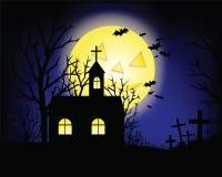 Grunge di Halloween e casa di caccia Fotografia Stock Libera da Diritti