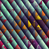 Grunge diagonal background of triangles Stock Photo