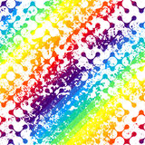 Grunge diagonal geometric pattern on colorful Stock Image