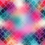 Grunge diagonal mosaic on blur background. Stock Image