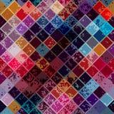 Grunge diagonal mosaic pattern. Royalty Free Stock Photos