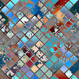 Grunge diagonal mosaic. Royalty Free Stock Photo