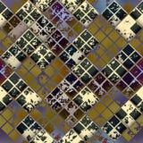 Grunge diagonal mosaic tile. Stock Image