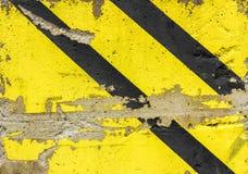 Grunge diagonal warning stripe Stock Photography