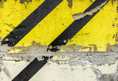 Grunge diagonal warning stripe Stock Photography