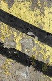 Grunge diagonal warning stripe Royalty Free Stock Photos