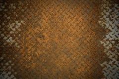 Grunge diamond metal background Stock Image