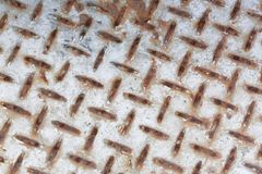 Grunge diamond metal plate texture Stock Image