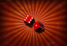 Grunge with dice Stock Photography