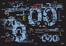 Grunge digital background Stock Images