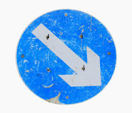 Grunge directional road sign Stock Image