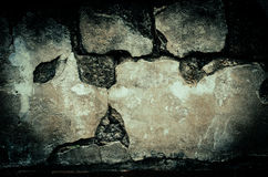 Grunge dirty brick wall with vintage and vignette tone - Horror Royalty Free Stock Photo