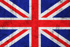 Grunge Dirty British Flag. Grunge Dirty and Weathered British Flag, Old Metal Textured Stock Photography