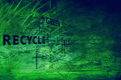 Grunge dirty conceptual eco green tags background Royalty Free Stock Photos