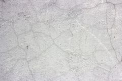 Grunge dirty cracked vintage light gray concrete and cement mold texture wall or floor background with weathered paint and scratch royalty free stock photography