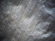 Grunge dirty defect silver woven plastic canvas royalty free stock photos