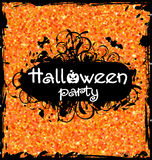 Grunge Dirty Frame for Halloween Party Stock Photos