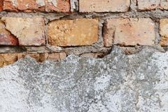 Grunge dirty old wall with brick structure for background royalty free stock images