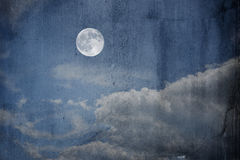 Grunge  dirty picture of a moon Stock Images