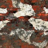 Grunge dirty plastered bricks wall. Grunge dirty plastered orange bricks wall royalty free illustration