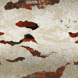 Grunge dirty plastered bricks wall Royalty Free Stock Photos