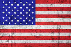 Grunge Dirty and Weathered USA (American) Flag. Old Metal Textured Stock Images
