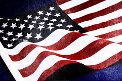 Grunge distressed aged old USA flag Royalty Free Stock Photos