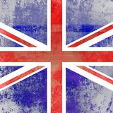 Grunge Faded Union Jack Flag. A grunge distressed Union Jack flag of Britain Royalty Free Stock Images