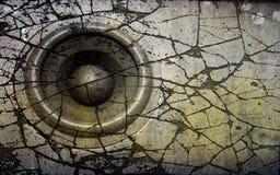 система диктора grunge dj диск-жокея 3d старая ядровая Стоковые Фото