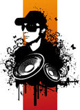 Grunge DJ. Music Set Illustration Stock Photo