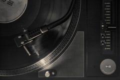 Grunge DJ Turntable Zdjęcie Royalty Free