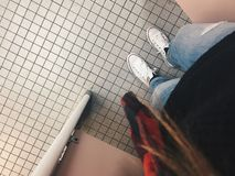 Grunge do banheiro Imagens de Stock