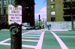 Grunge do Crosswalk imagens de stock royalty free