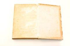 Grunge do livro velho no branco Foto de Stock Royalty Free
