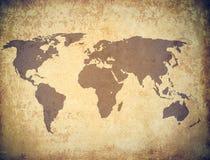 Grunge do mapa de mundo foto de stock royalty free