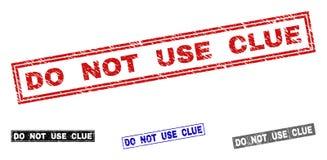 Grunge DO NOT USE AANWIJZING Gekraste Rechthoekzegels stock illustratie