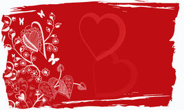 Grunge do Valentim Foto de Stock