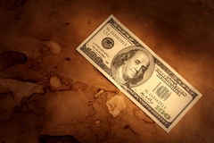 Grunge dollar background Royalty Free Stock Photos