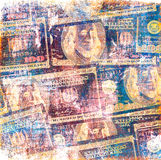 Grunge dollars background Royalty Free Stock Photo