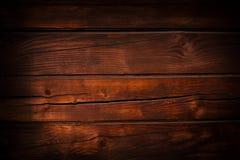 Grunge, donkere bruine houten textuur Royalty-vrije Stock Afbeeldingen
