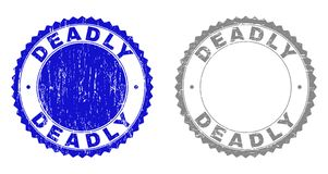 Grunge DOODS Gekraste Zegels vector illustratie