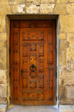 Grunge door. With metal handles in Paris Royalty Free Stock Photo