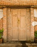 Grunge door and brickwall Stock Image