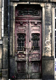Grunge door in Porto Stock Photo