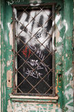 Grunge door to a vacant building Stock Photo