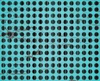 Grunge dots. Black on green grunge dots composition royalty free illustration